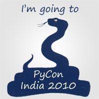 PyCon India 2010 - I'm attending Badge
